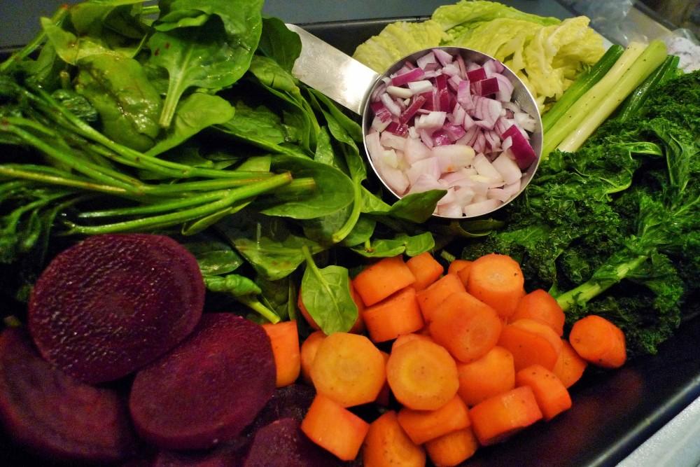 P1020869 De geblancheerde groenten